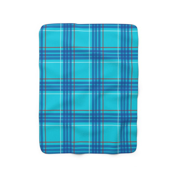 Dawson Plaid Sherpa Fleece Blanket