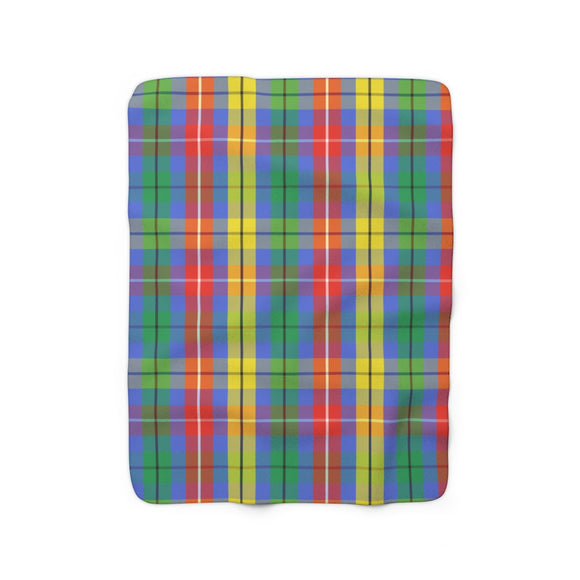 Richard's Plaid Sherpa Fleece Blanket
