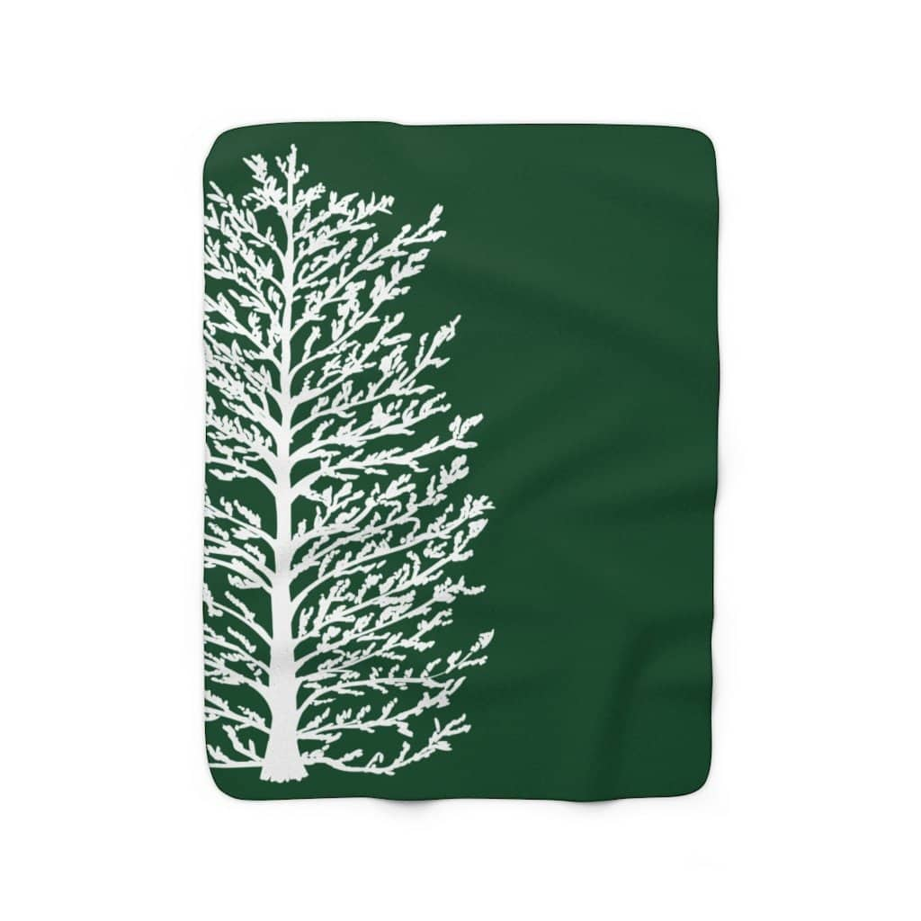 Evergreen Sherpa Fleece Blanket