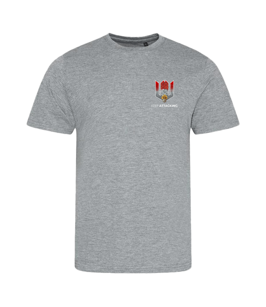 KA Mens Emblem T-Shirt Grey Fusiliers Edition