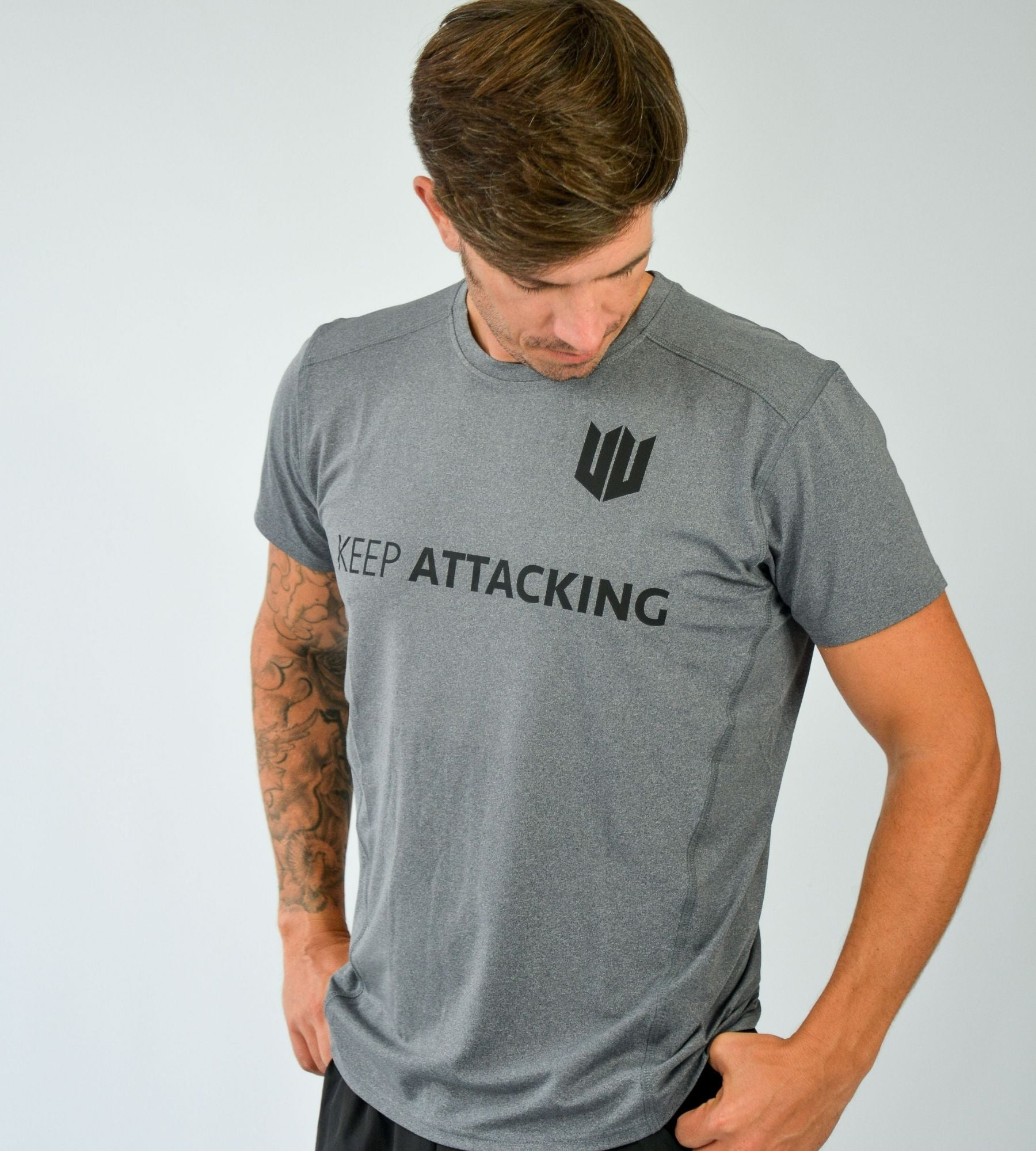 KA Mens Progression T-Shirt Grey Black Lifestyle