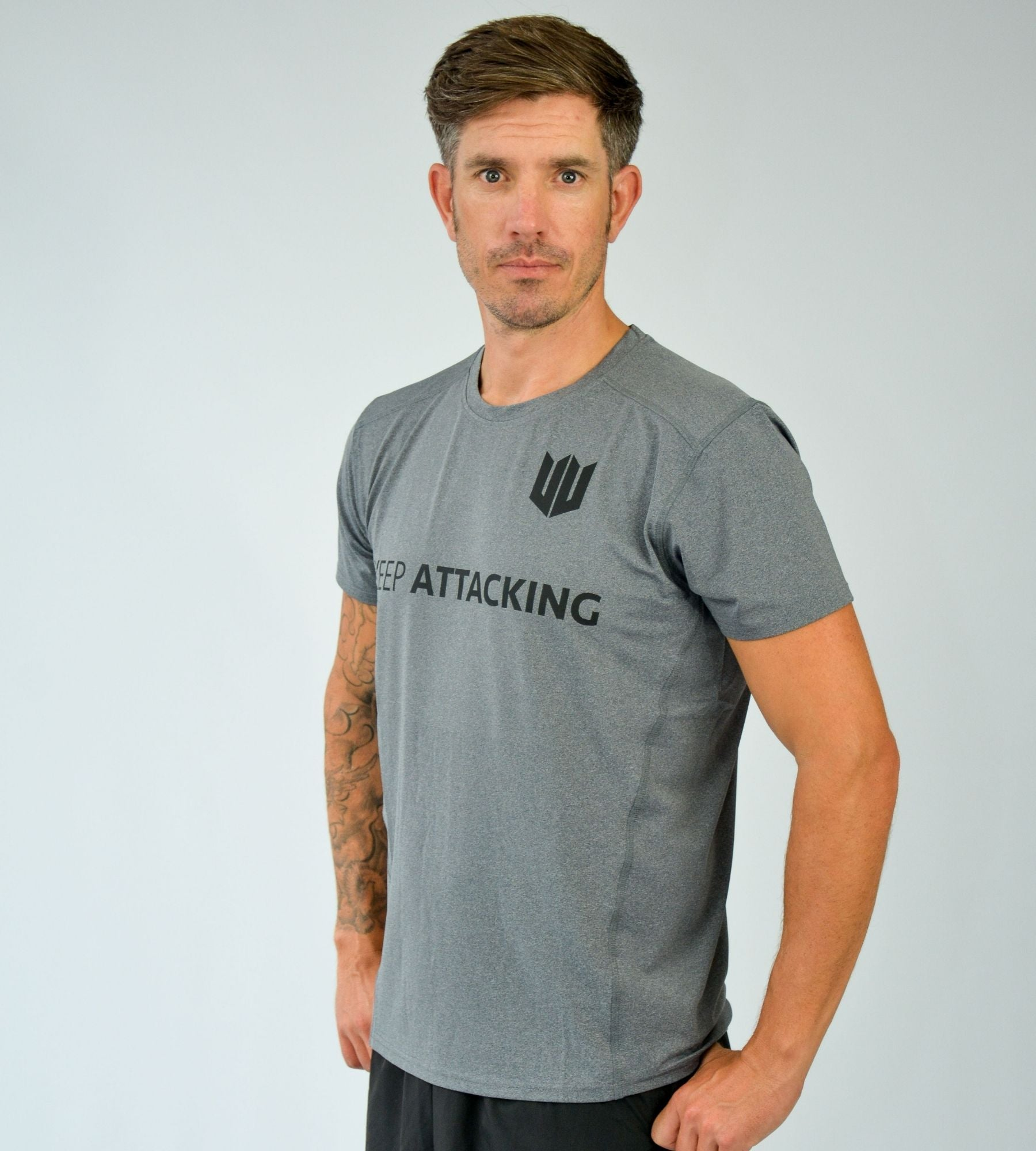 KA Mens Progression T-Shirt Grey Black