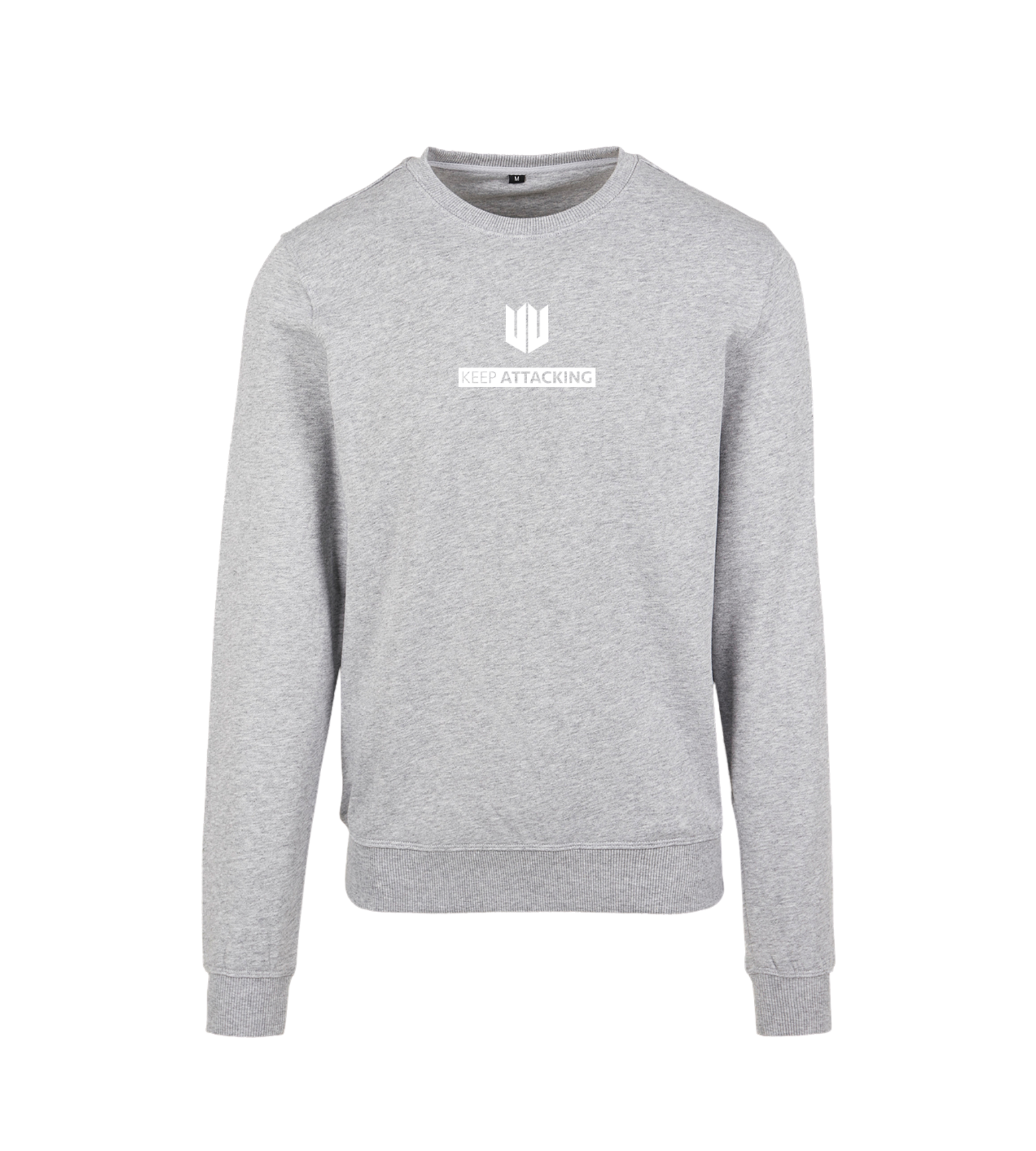 KA Mens Crew Neck Jumper Grey White