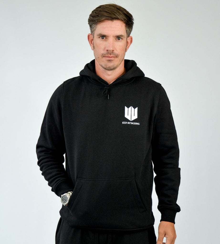 KA Mens Emblem Hoodie Black White Main