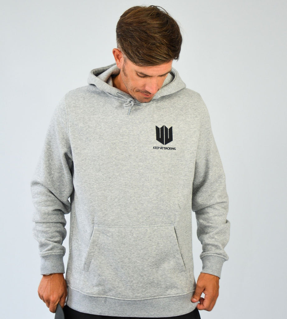 KA Mens Emblem Hoodie Grey Black Main
