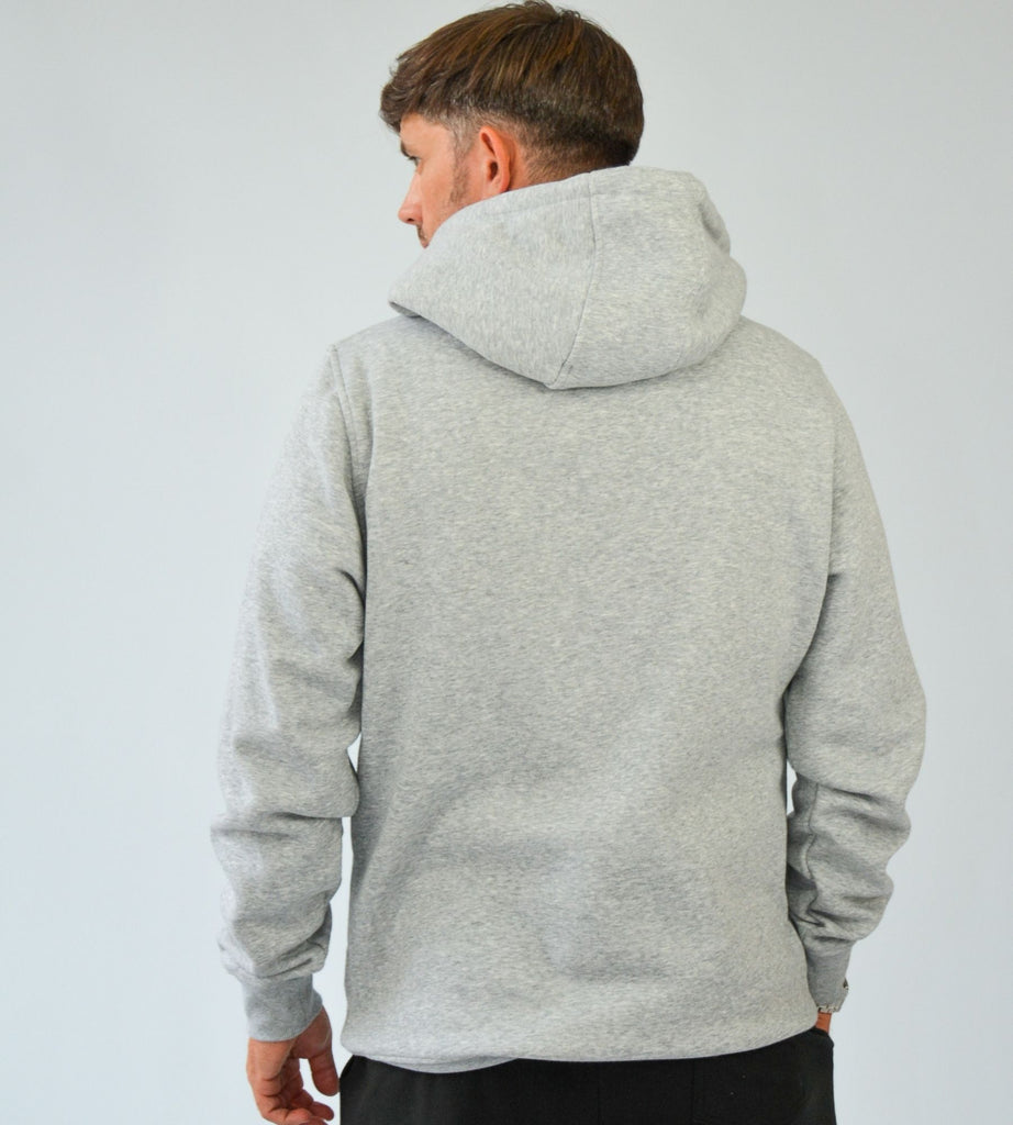 KA Mens Emblem Hoodie Grey White Back