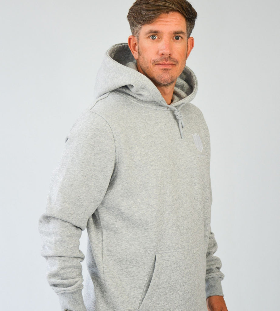 KA Mens Emblem Hoodie Grey White Side