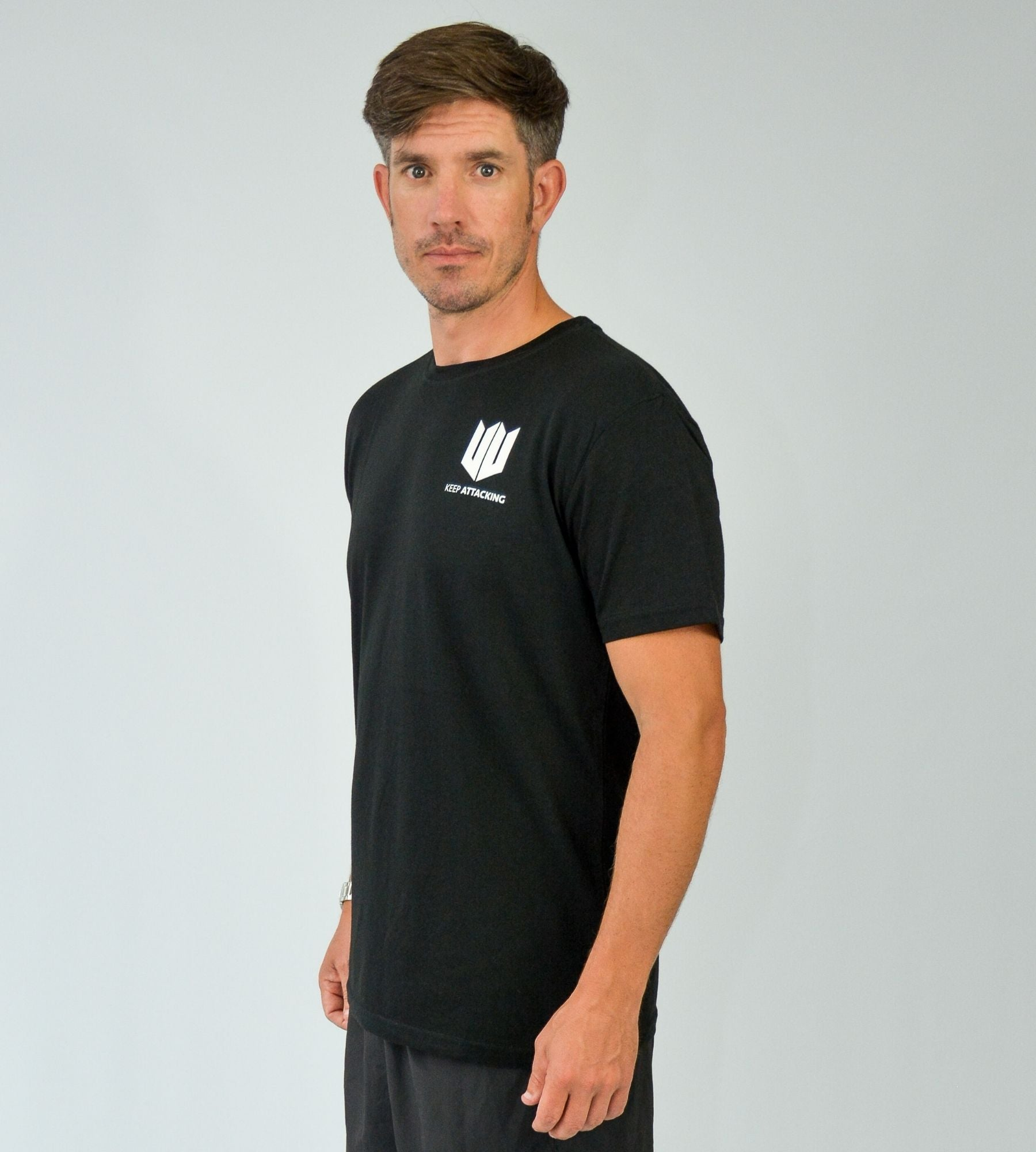KA Mens Emblem T-Shirt Black White