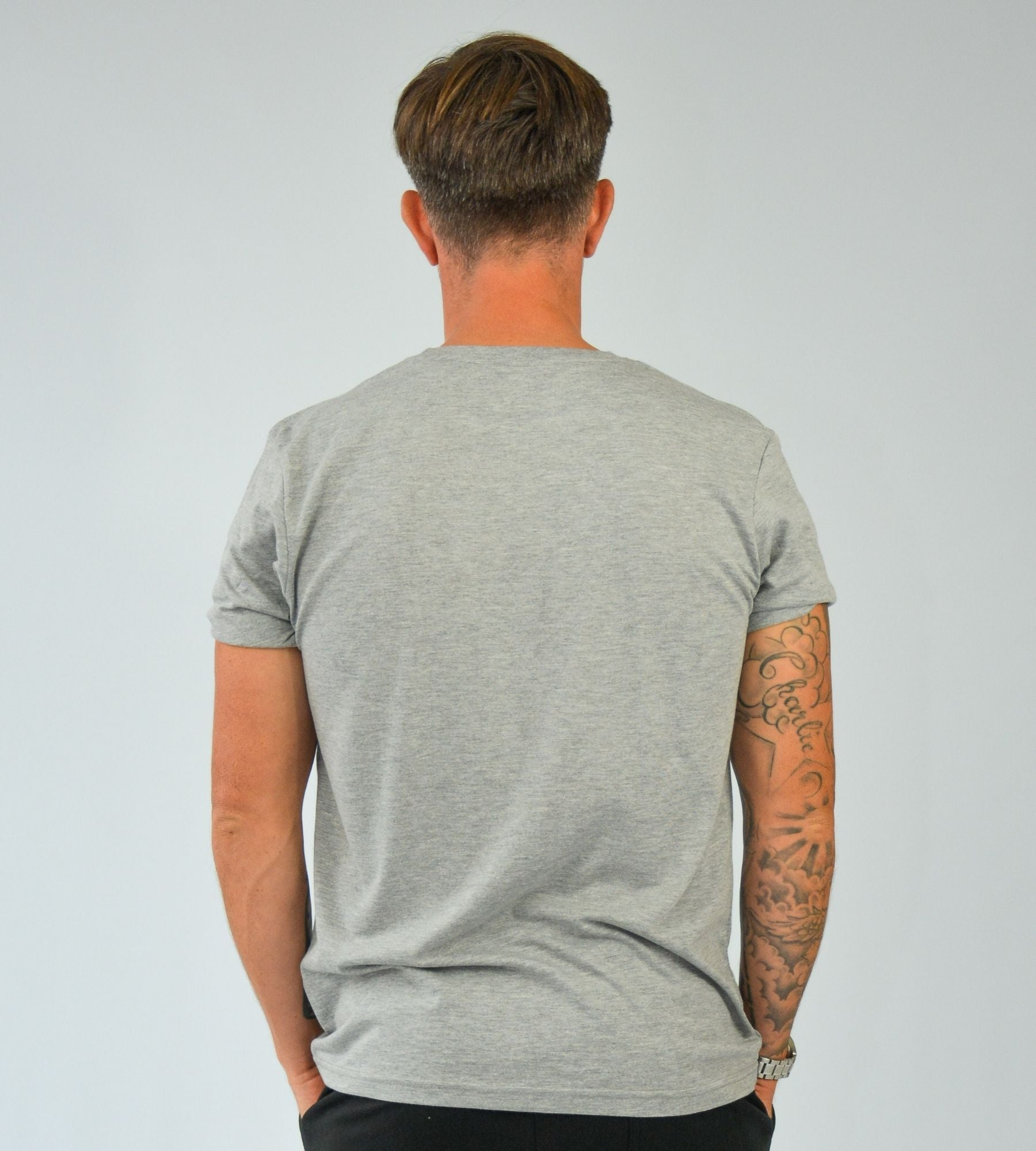 KA Mens Emblem T-Shirt Grey Black back