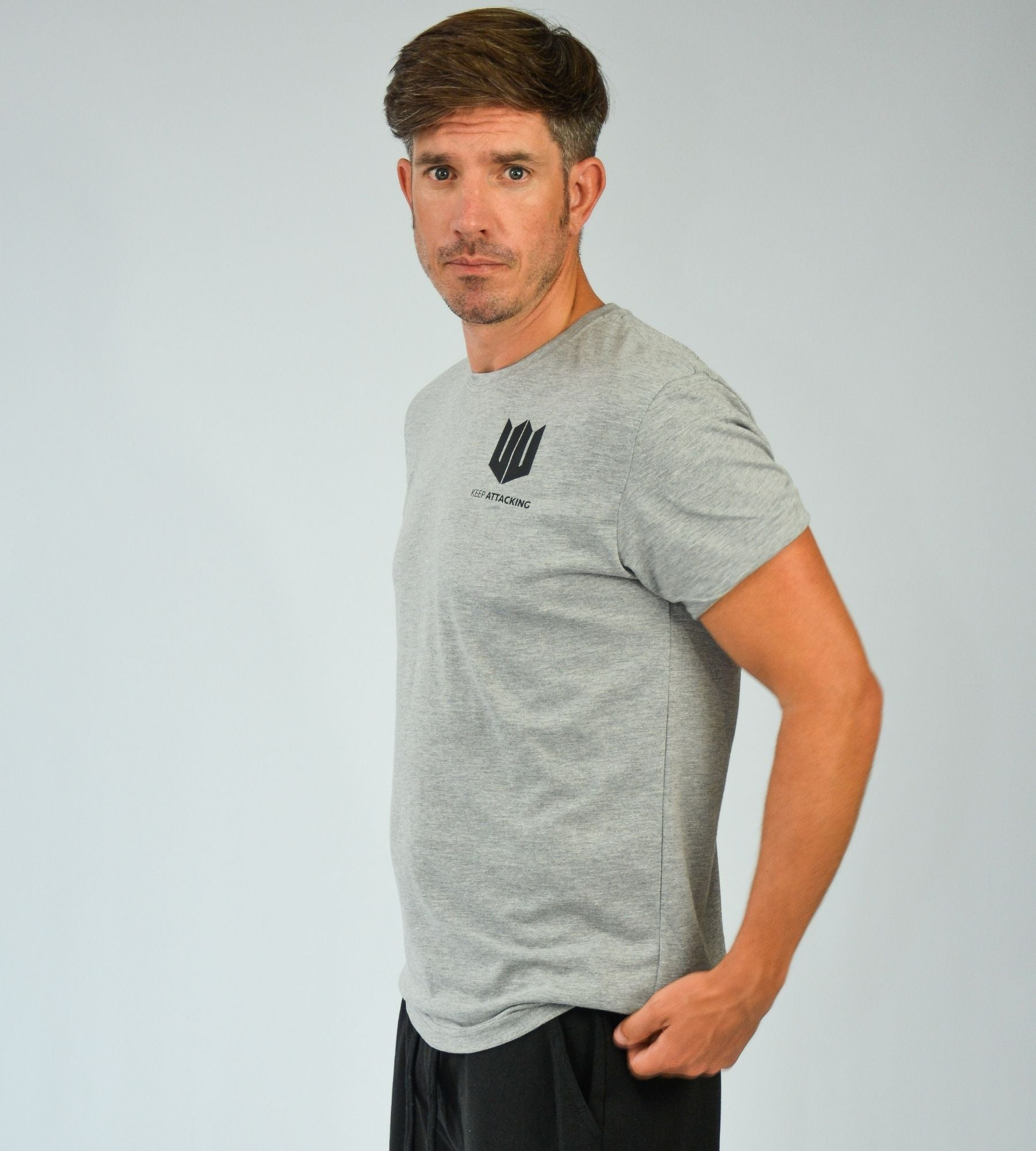 KA Mens Emblem T-Shirt Grey Black side