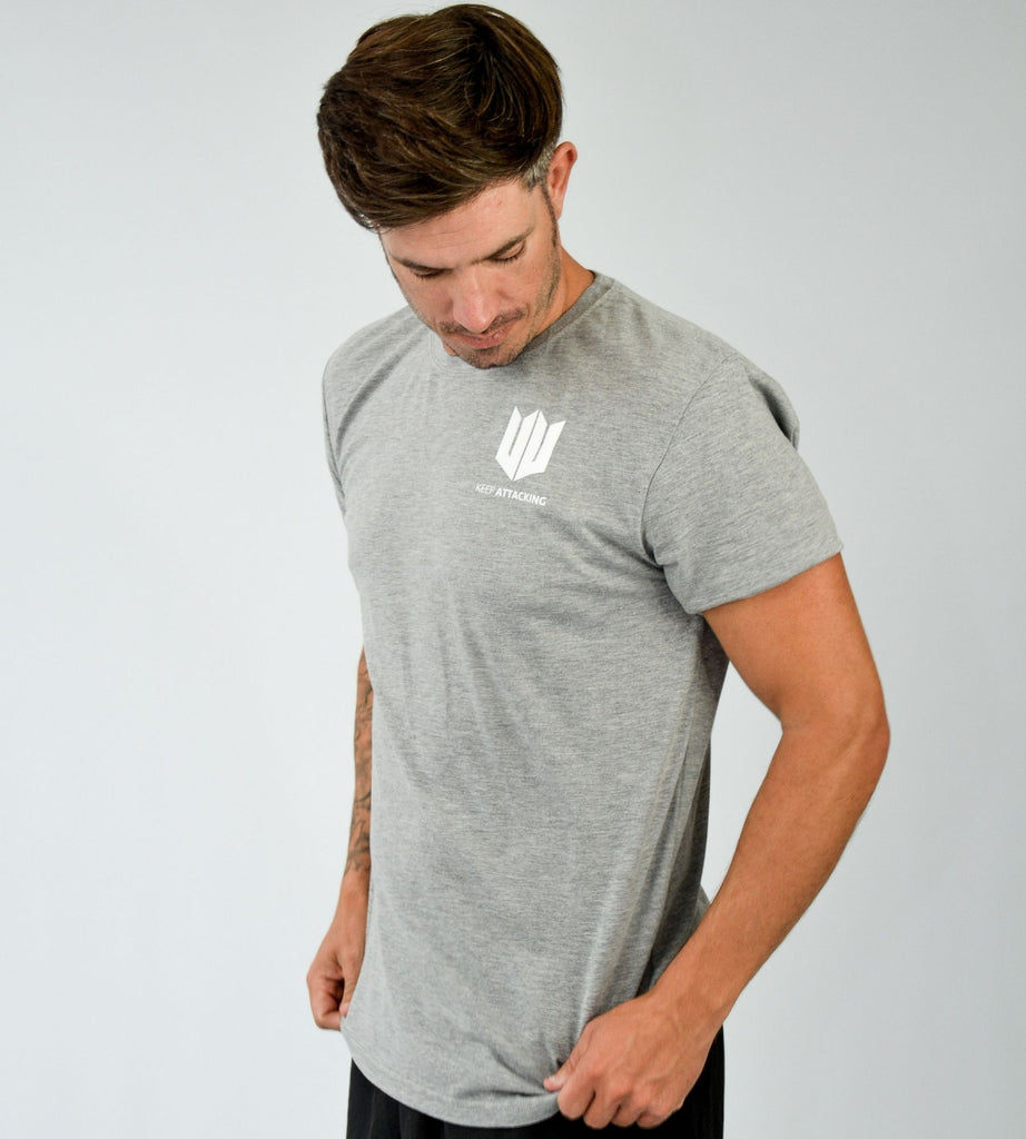 KA Mens Emblem T-Shirt Grey White