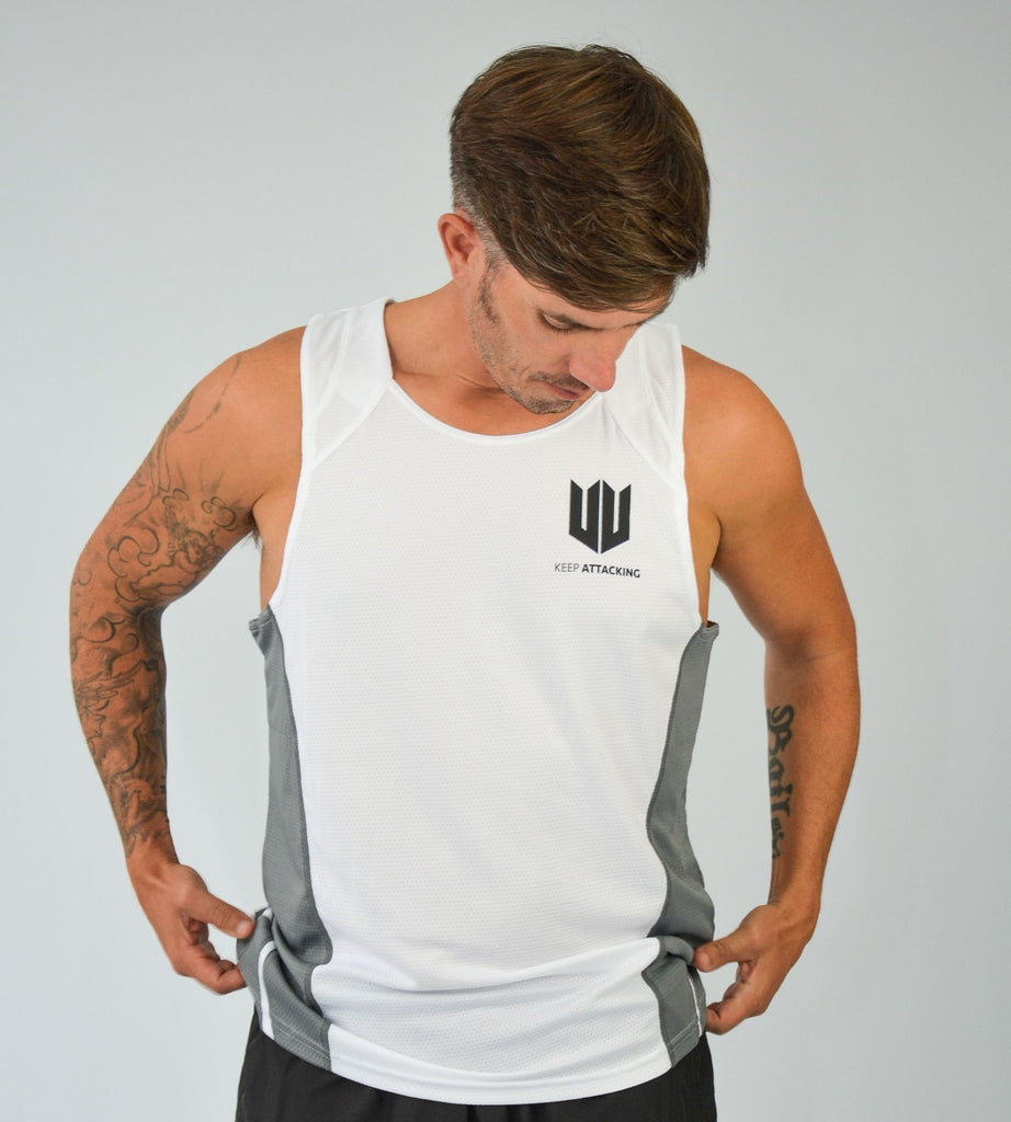 KA Mens Endurance Tank White Grey