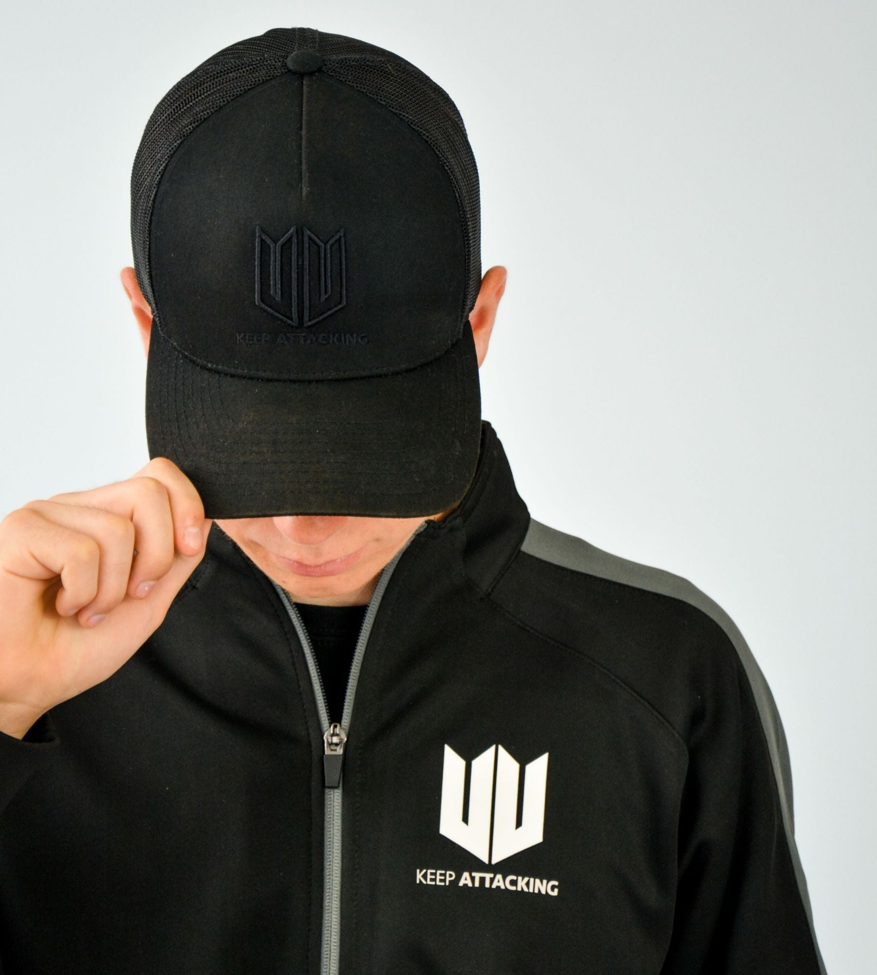 KA Mens Resilience Training Tracksuit Top Lifestyle Closeup