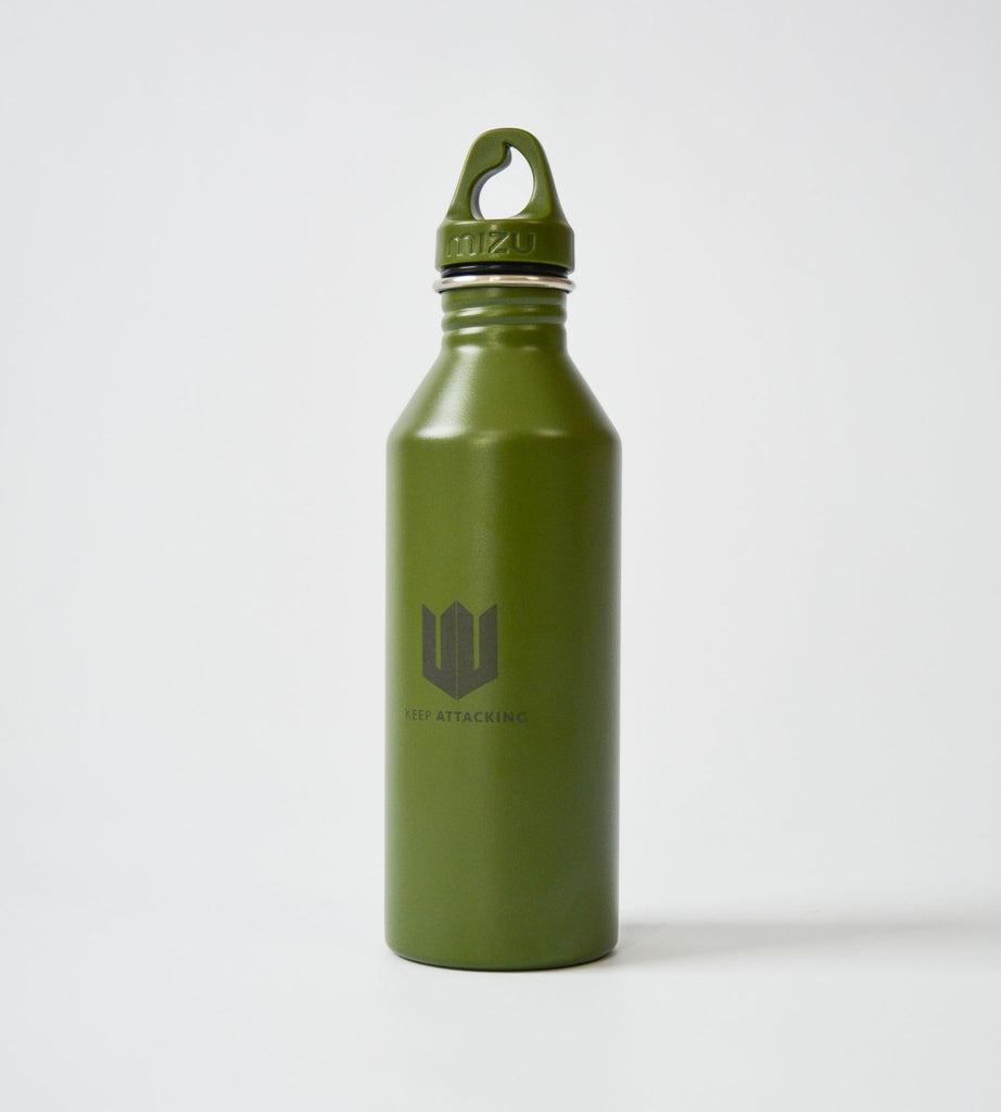 KA Water Bottle Green Cap On