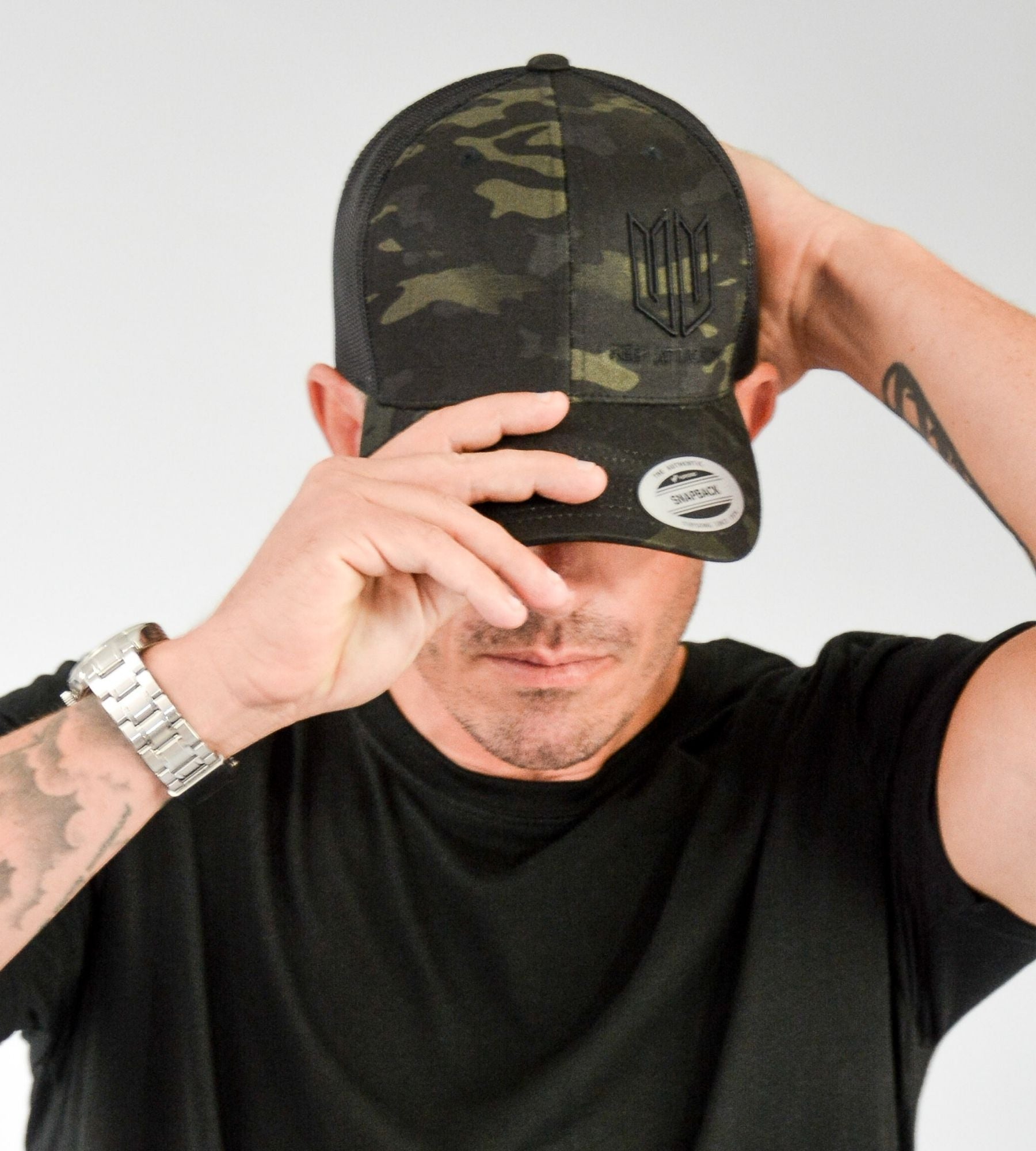 Dark Multicam 3D KA Snapback Cap on Model