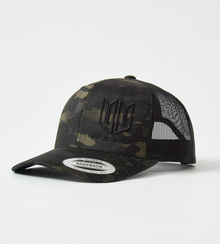 Dark Multicam 3D KA Snapback Cap Side
