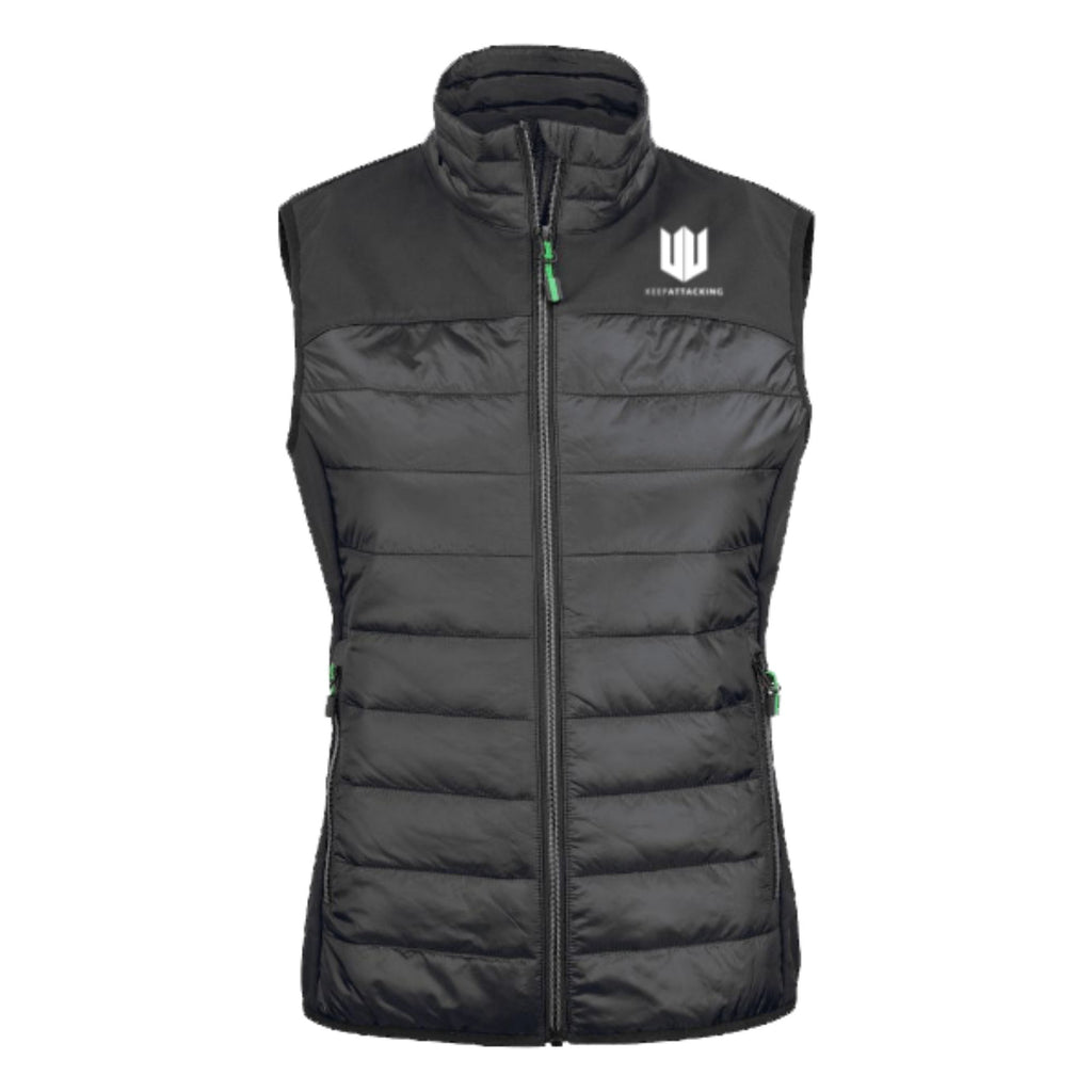 KA Womens Ethereal Gilet Black with white logo