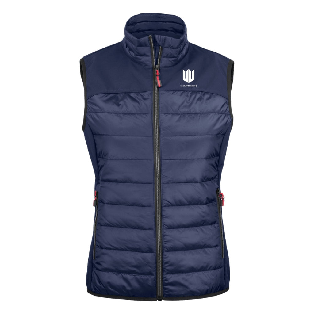 KA Womens Ethereal Gilet Navy Blue with white logo