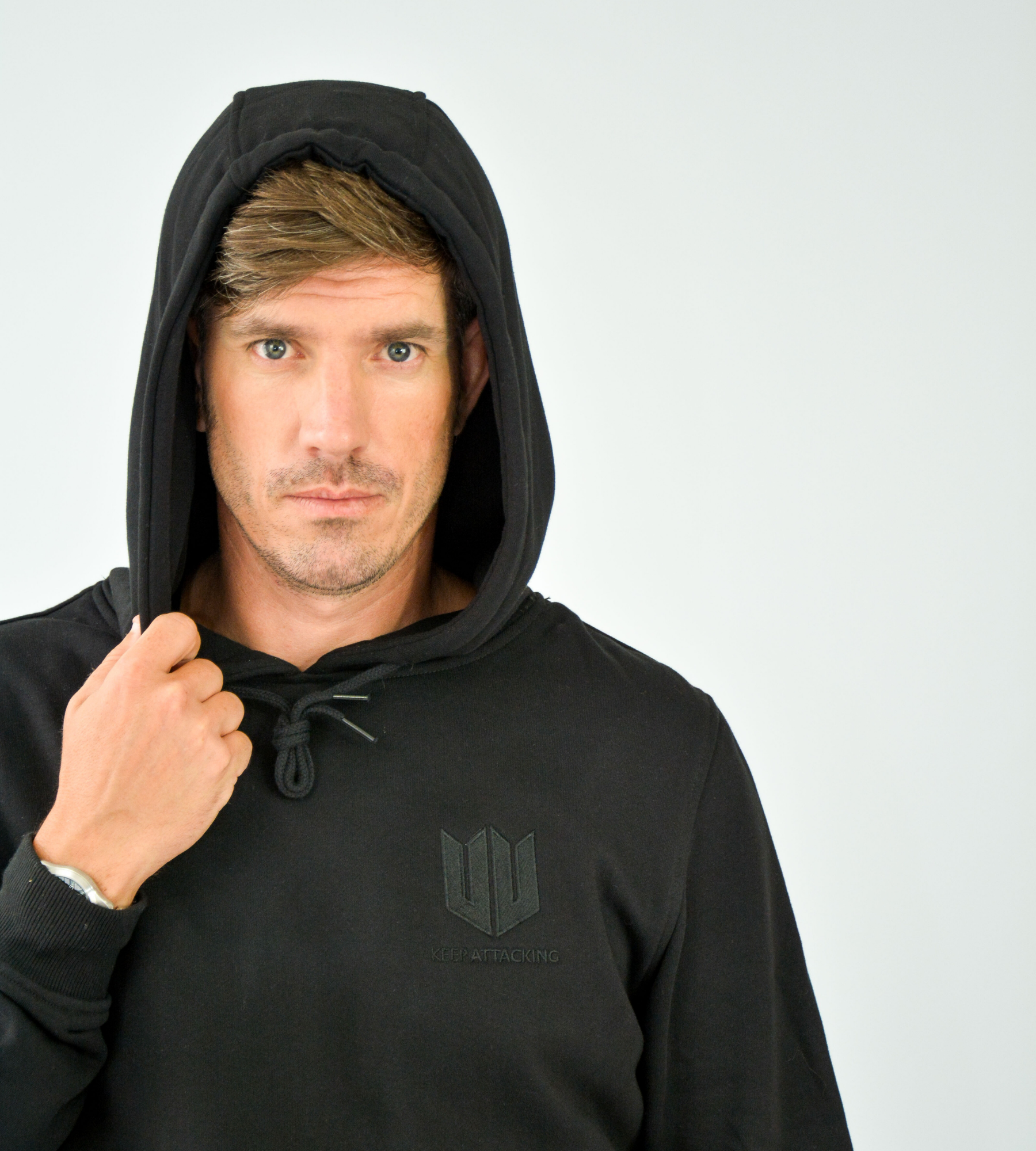 KA Mens Emblem Hoodie Black Edition Hood up