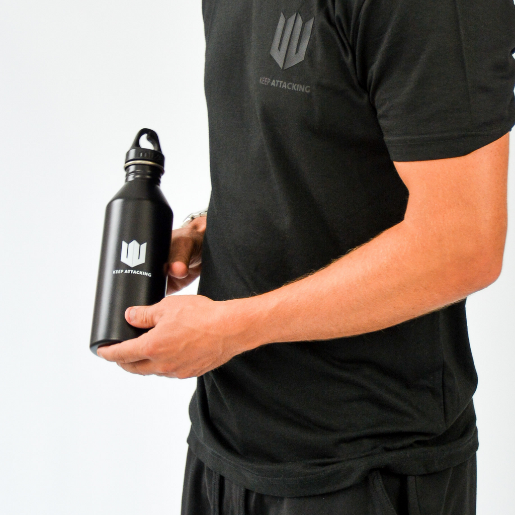 KA Water Bottle Black Model Holding