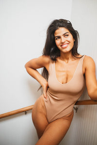 THE COFFEE MILK RIBBED BODYSUIT