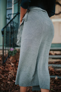 THE WRAPPED UP KNIT SKIRT