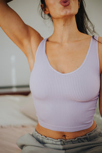 THE LILAC RIBBED CROP