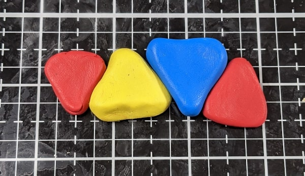 Triangle Polymer Clay Pieces