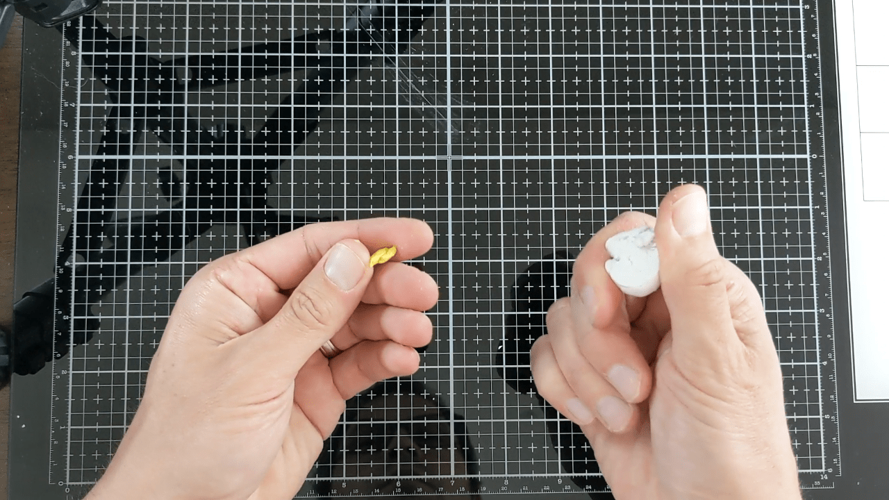 White Polymer Clay and Yellow Polymer Clay