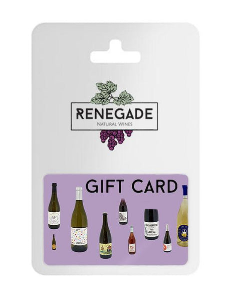 Gift card for natural wine subscription