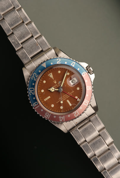 1962 Rolex Tropical-Gilt-Chapterring 1675 GMT