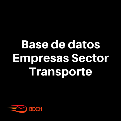 Base de Datos sector transporte (14.400 contactos)