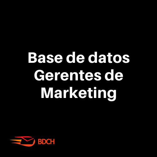 Base de datos Gerentes de Marketing Chile (36.297 Contactos)
