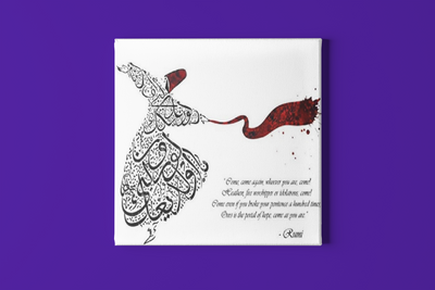 Rumi Poster - Come Whoever You Are - Invitation to Hope