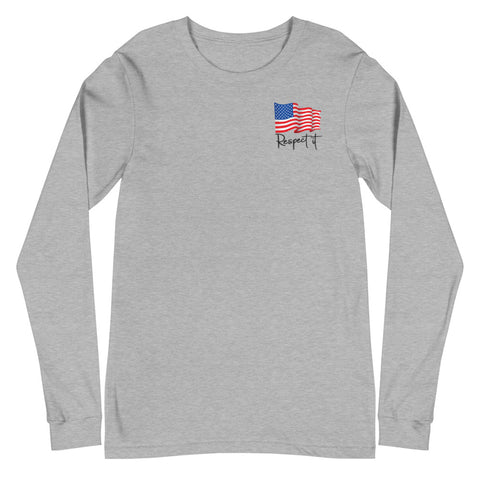 Women's  Long Sleeve Patriotic Tee (light color)