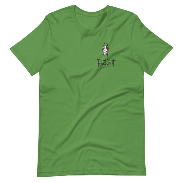 Women's Short-Sleeve T-Shirt: Rescue It- Dog (light colors)