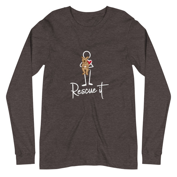 Women's Rescue It Dog Long Sleeve Tee