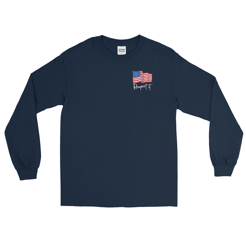Men's Long Sleeve Shirt Patriotic (dark colors)