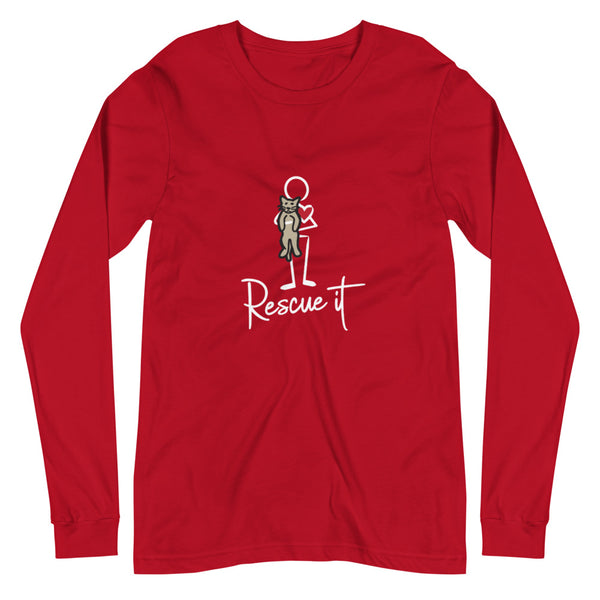 Women's Rescue It Cat Long Sleeve Tee