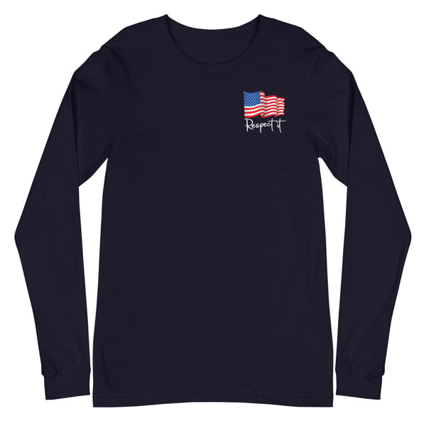 Women's  Patriotic Long Sleeve Tee (dark colors)
