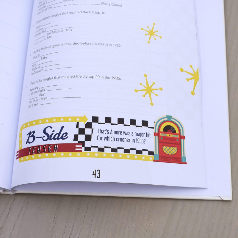 50s to 90s Music Quiz Book - The Personal Shop