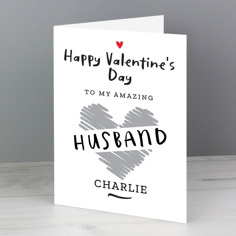Personalised Happy Valentine's Day Card - The Personal Shop