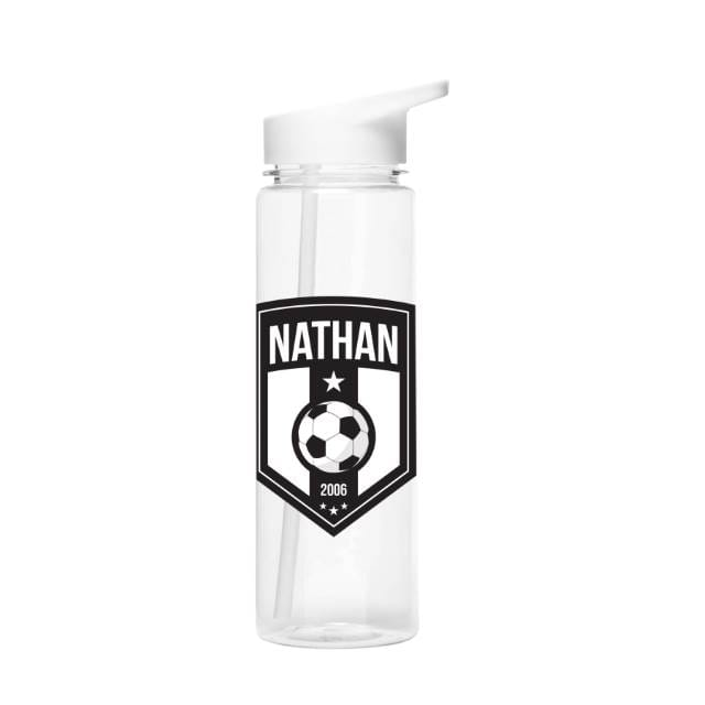 Football Badge Water Bottle - The Personal Shop