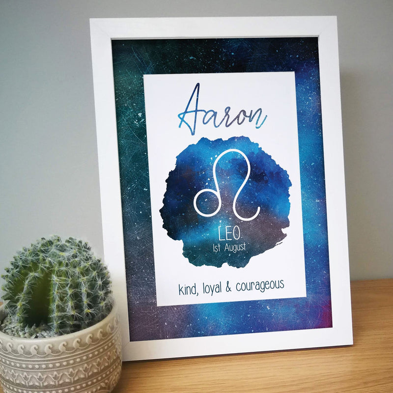 Horoscope A4 Personalised Framed Print - The Personal Shop