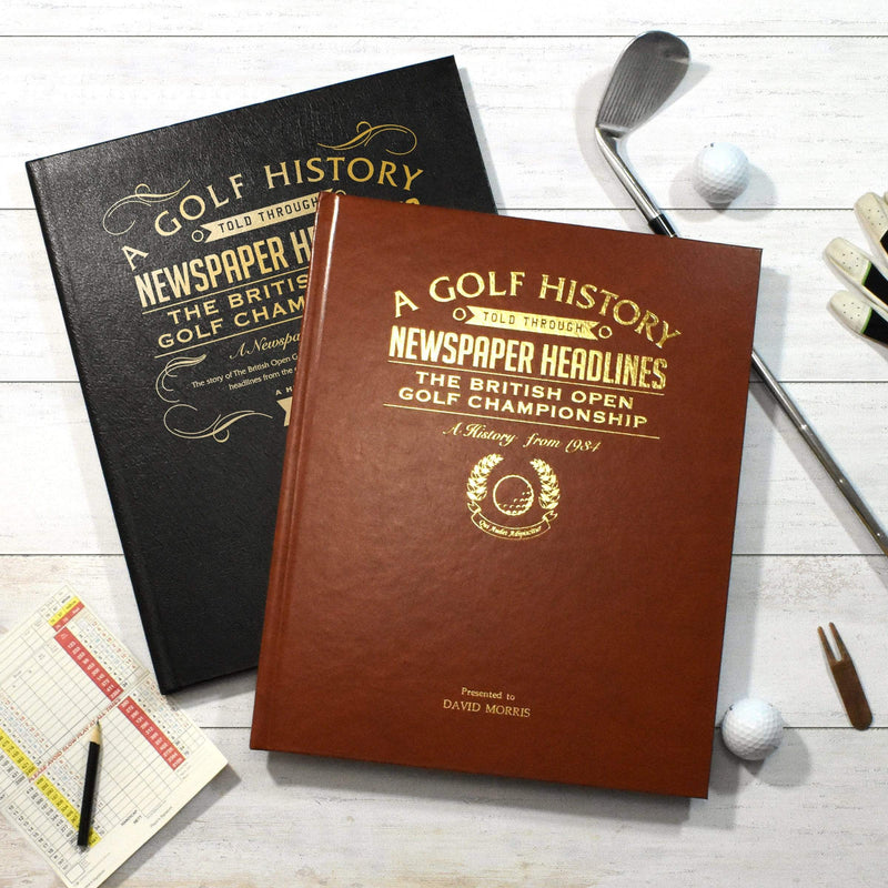 Personalised A3 'The Open' Golf Newspaper Book - The Personal Shop