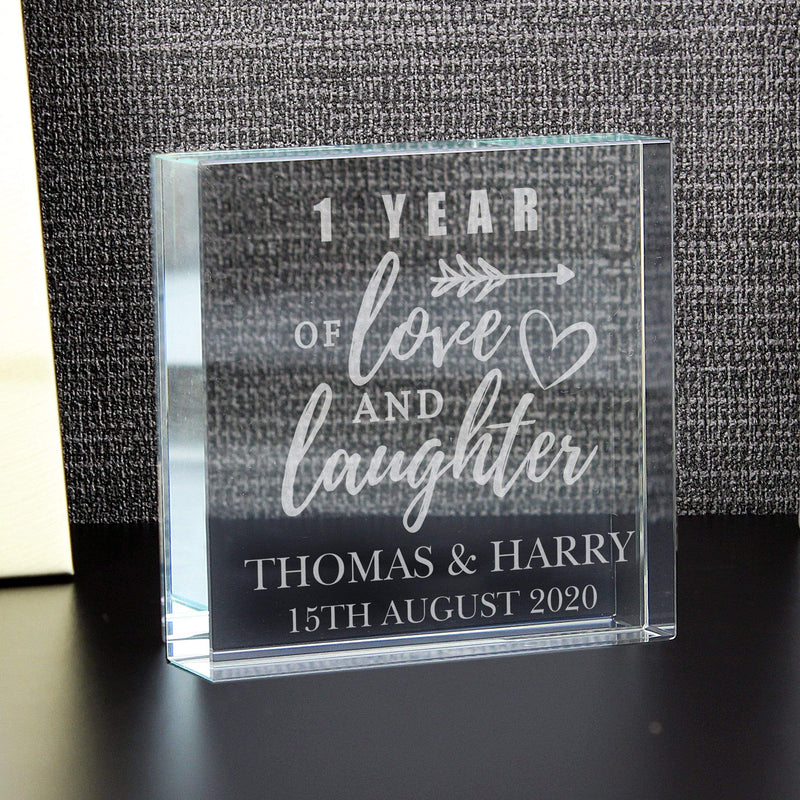 Personalised Anniversary Large Crystal Token - The Personal Shop