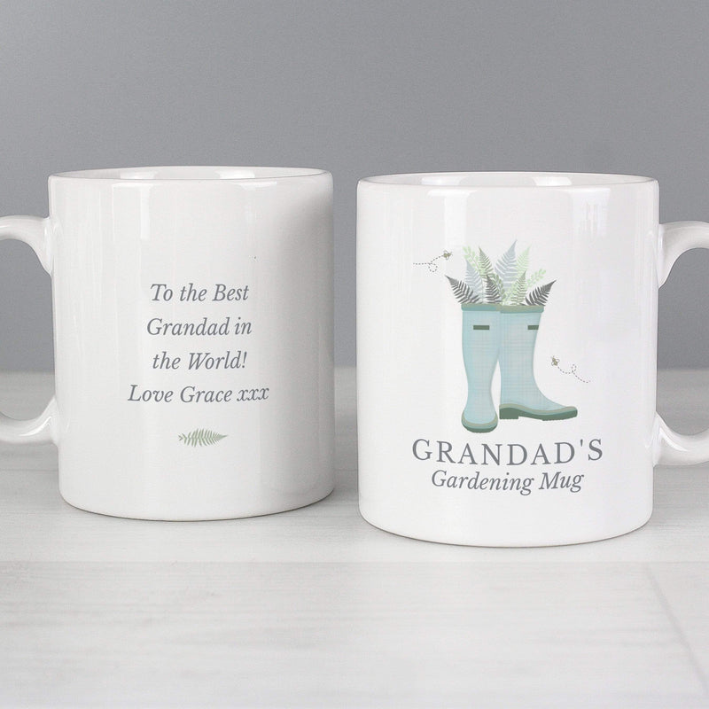 Personalised Blue Wellies Mug - The Personal Shop
