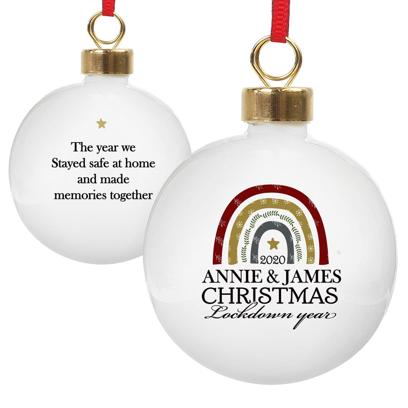 Personalised Christmas Lockdown Year Bauble - The Personal Shop