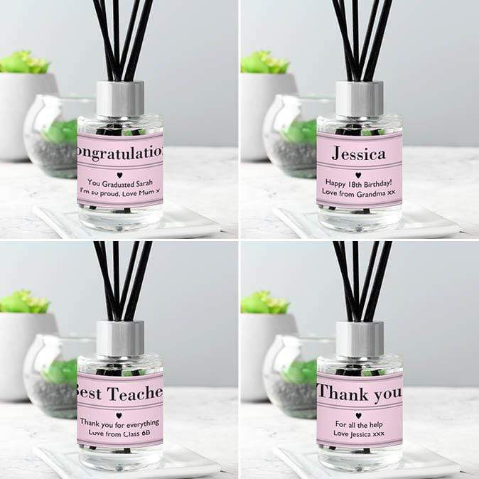 Personalised Classic Pink Reed Diffuser - The Personal Shop