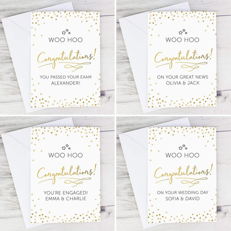 Personalised Congratulations Card - The Personal Shop